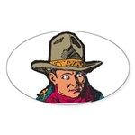Movie Cowboy #1 Oval Sticker
