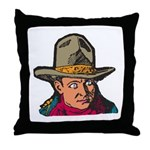Movie Cowboy #1 Throw Pillow