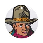 Movie Cowboy #1 Ornament (Round)