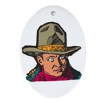 Movie Cowboy #1 Oval Ornament
