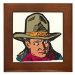 Movie Cowboy #1 Framed Tile