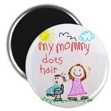 """Hairstylist Mommy! 2.25"""" Magnet (100 pack)"""