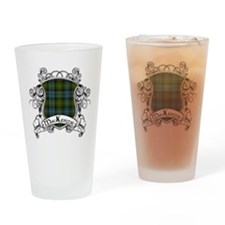 MacKenzie Tartan Shield Drinking Glass