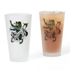 MacKenzie Tartan Lion Drinking Glass