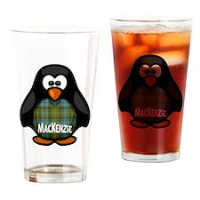 MacKenzie Tartan Penguin Drinking Glass