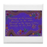 Waldorf blessing  Tile Coaster