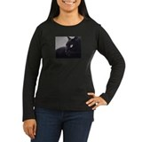 camara peacefulCat Women's LS Dark T-Shirt