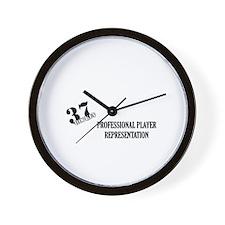 37 Hockey White Wall Clock