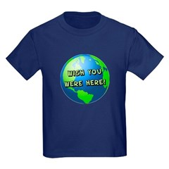 Wish you were here Kids Dark T-Shirt