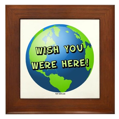 Wish you were here Framed Tile