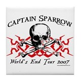 Captain Sparrow Tour Tile Coaster