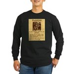Warning to Moochers Long Sleeve Dark T-Shirt