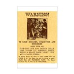 Warning to Moochers Mini Poster Print