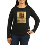 Warning to Moochers Women's Long Sleeve Dark T-Shi