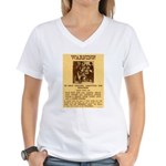 Warning to Moochers Women's V-Neck T-Shirt