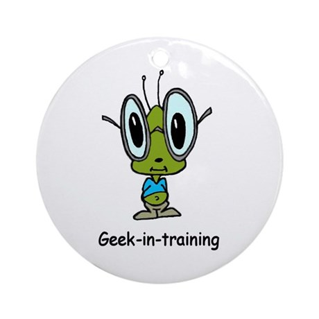 Geek in Training Ornament (Round)