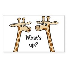 What's up? Giraffe Rectangle Decal