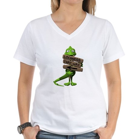 Lochness Monster Women's V-Neck T-Shirt
