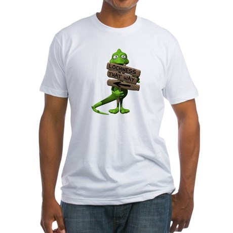 Lochness Monster Fitted T-Shirt