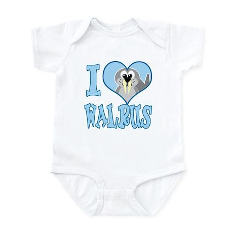 I Love (Heart) Walrus Infant Bodysuit