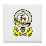 SCOTT 1 Coat of Arms Tile Coaster
