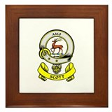 SCOTT 1 Coat of Arms Framed Tile