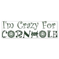 Crazy For Cornhole Bumper Sticker