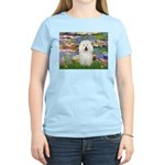 Lilies (#2) & Bolognese Women's Light T-Shirt