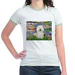Lilies (#2) & Bolognese Jr. Ringer T-Shirt