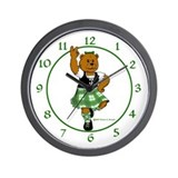 Molly the Highland Dancer Bear Wall Clock