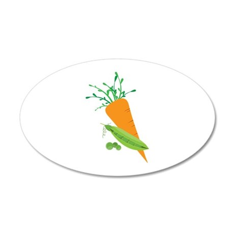 Green Peas Carrot Wall Decal