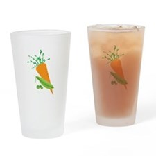 Green Peas Carrot Drinking Glass