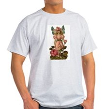 Victorian Flower Fairy Pink Rose T-Shirt
