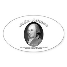 John Adams 05 Oval Decal