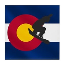Colorado Snowboarding Tile Coaster