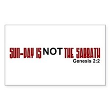 Sun-Day NOT the Sabbath Rectangle Decal