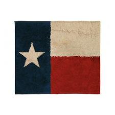 Rustic Republic of Texas Throw Blanket