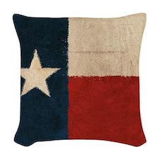 Rustic Republic of Texas Woven Throw Pillow