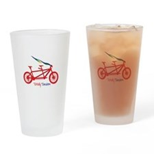 Totally Tandem Drinking Glass