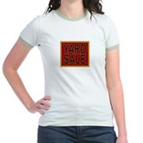 Vintage Yard Sale Sign Ringer T-shirt