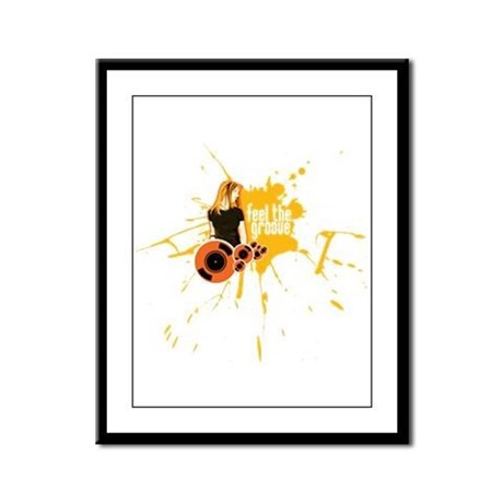 Feel The Groove Framed Panel Print