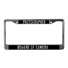 photographer License Plate Frame