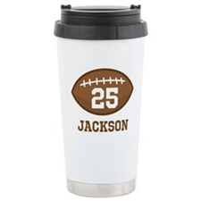 Personalized Football Player Travel Mug