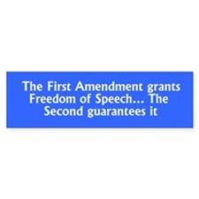 Second Amendment guarantees the First Amendment