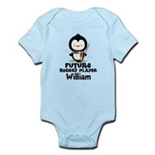 Personalized Hockey Player Penguin Body Suit