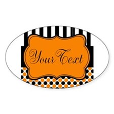 Personalizable Orange and Black Script Decal