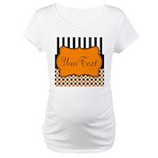 Personalizable Orange and Black Script Shirt