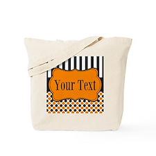 Personalizable Orange and Black Tote Bag