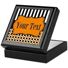 Personalizable Orange and Black Keepsake Box