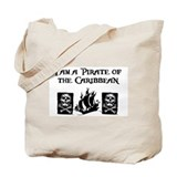 I am a Pirate of the Caribbea Tote Bag